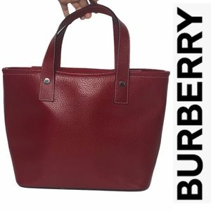 Vintage Red Burberry London Handbag